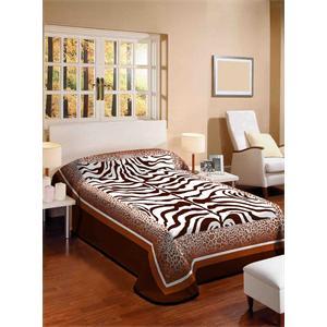 Zebra Desenli Balizza Battaniye