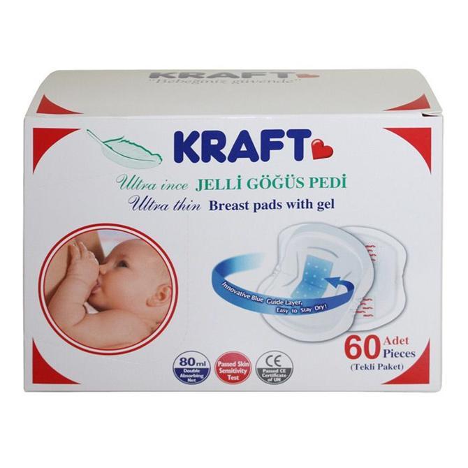 12605-Kraft Ultra İnce Jelli Göğüs Pedi 60 lı-Bebe Reyonu - Uysaler Sanal Mağazacılık İnternet Hizmetleri ve Bilgi Teknolojileri Ltd. Şti.