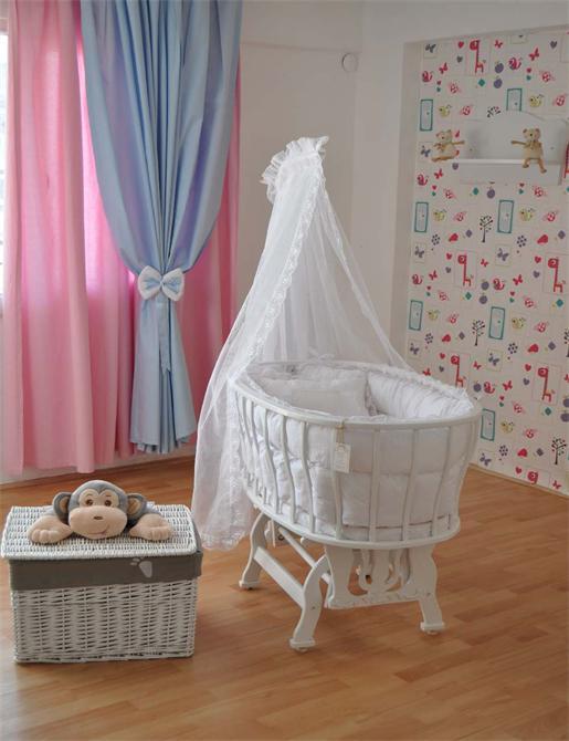 172810-Bebekonfor Bersava Beyaz Fransız-Bebe Konfor - Bebek Beşikleri ve Organik Beşik İmalatı