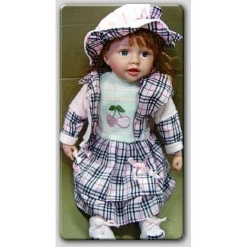 1129-Şapkalı Oyuncak  Kız Bebek-Toru Toys