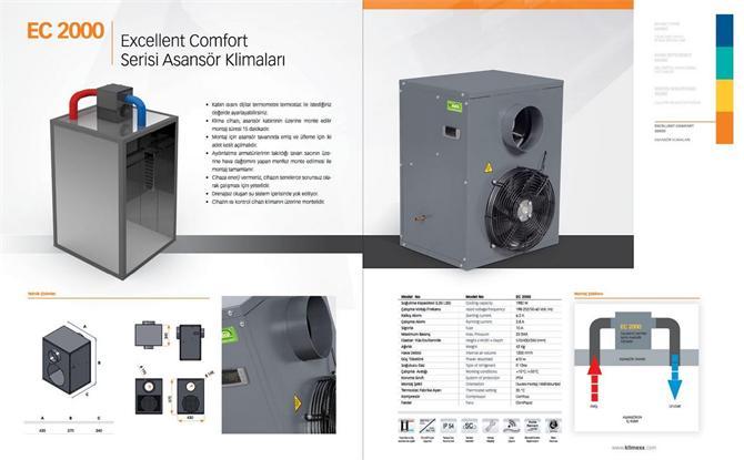 48832 asansör kliması klimexs endüstriyel soğutma sistemleri