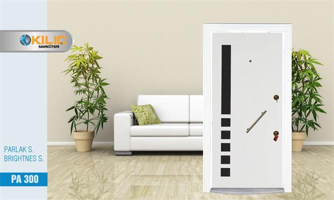 12761-Parlak Serisi Çelik Beyaz Kapı-Kılıç Marküteri Ahşap Profil Mobilya Çelik Kapı Tarım San. Tic. Ltd. Şti.