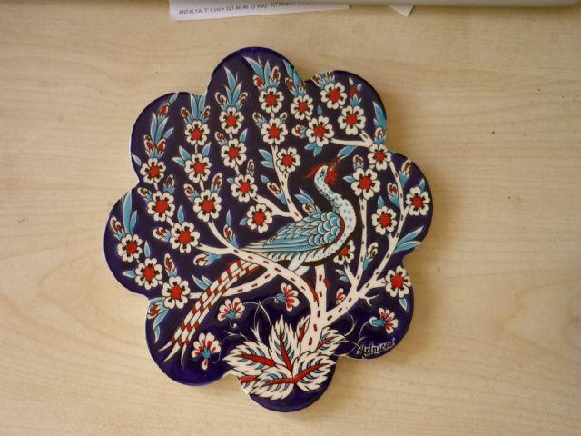 589-Tavus Kuşu Desenli Nihale-Kanzi Hediyelik Eşya ve Teks. San. Tic. Ltd. Şti.-