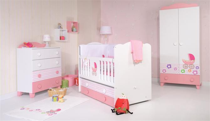 29411-Flora Bebek Odası-Hugglo Bebe - Boyut Ahşap San.ve Tic.Ltd.Şti