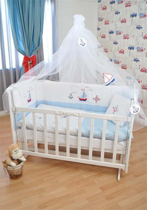 172859-Bebekonfor Elyesa beyaz Beşik Marine-Bebe Konfor - Bebek Beşikleri ve Organik Beşik İmalatı