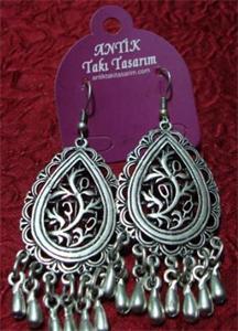 Fringed Ottoman Oval Earrings