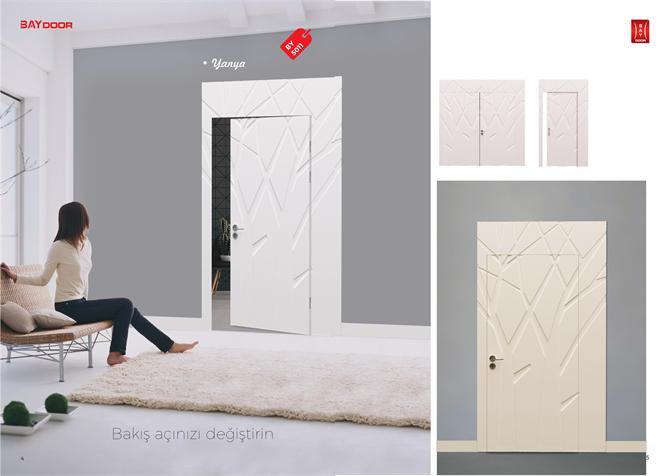 198832 BY 5011 PLATINUM SERIES WOODEN PAINTED INNER DOOR Baydoor   Motif  Decoration