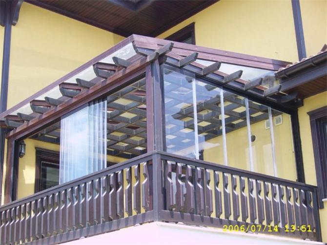 glas balkon pergola anwendung cetin cam katlanir cam. Black Bedroom Furniture Sets. Home Design Ideas