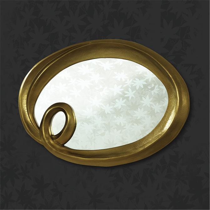 Oval Altın Kaplama Varak Ayna - Kervan Cam &Ayna Dekorasyon San. Tic ...