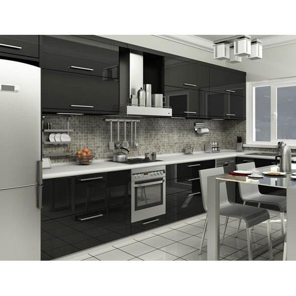 Black & Gray Kitchen Design