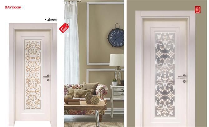 198835 BY 5008 PLATINUM SERIES WOODEN PAINTED INNER DOOR Baydoor   Motif  Decoration
