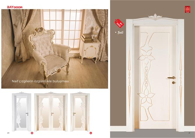 198840 BY 5002 PLATINUM SERIES WOODEN PAINTED INNER DOOR Baydoor   Motif  Decoration