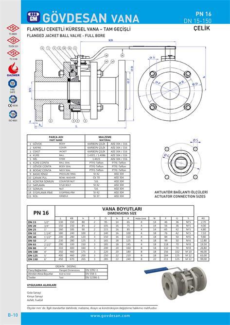 213487-PN 16 Flanged Jacketed Ball Valve-GOVDESAN MAKINA Elektronik Ins. Tur. Nakl. San. ve Tic. Ltd. Sti.