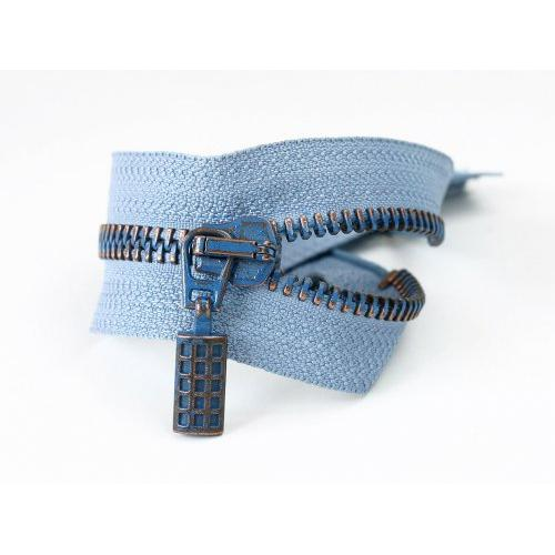 18352-Blue metal zipper-Ruba Fermuar San. A. S.