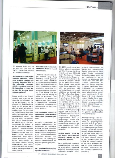 67970-Decade in Mechanical Industry Press-Dekat Makina Sanayi ve Ticaret. Ltd. Sti.