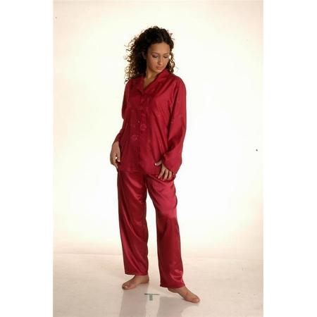 16028-Red satin pajama sets-Nena Ic Giyim ve Dis Giyim