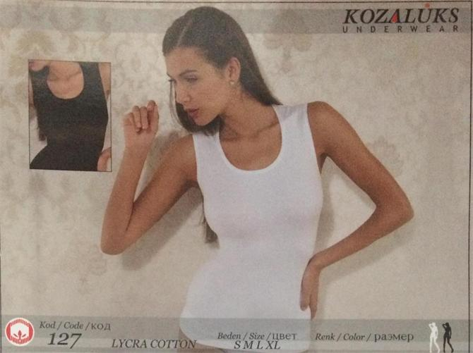215461-Women's Crew Neck Sleeveless Undershirt-Kozaluks Tekstil San. ve Tic. Ltd. Sti.