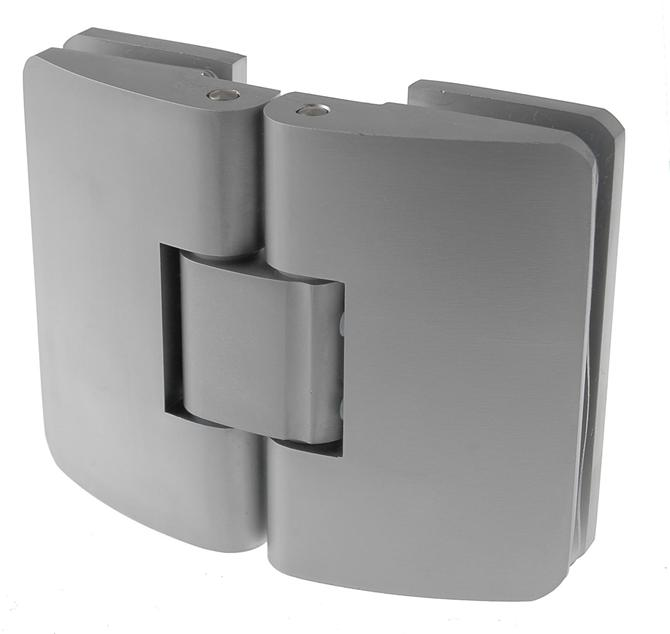 214145-Clicking Hinge Without Cut on the Seal - Glass to Glass 180°-BM Glass Hardware
