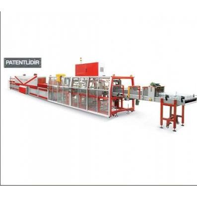 31455-Shrink packaging machine glass jar overlap system-Yazici Makina Sanayi ve Ticaret Ltd. Sti.