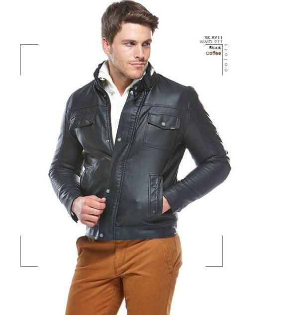 30733-WDM 911 (* p) leather coats-Wise - Celikler Giyim San. Tic. Ltd. Sti.