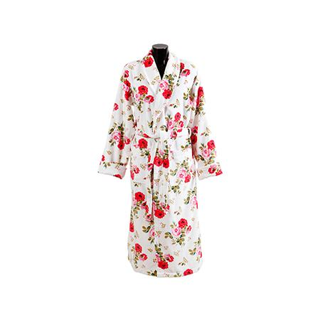 167843-Floral Patterned Bathrobe-FAMA TEKS Tekstil Pazarlama Sanayi Tic. Ltd. Sti.