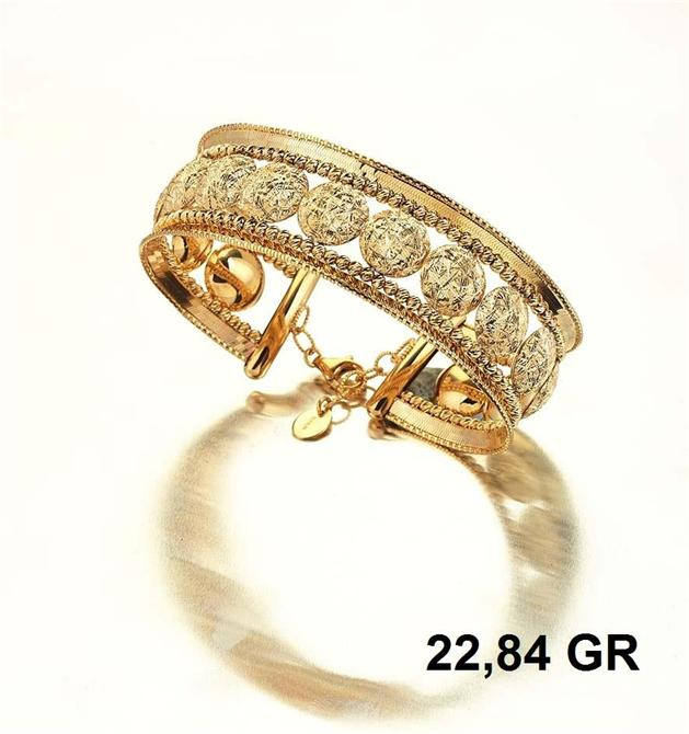 216280-18K Gold Bracelet-Rinel Import-Export Co
