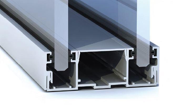 213687-DOUBLE GLASS System Aluminium Profile for Glass Walls-BM Glass Hardware