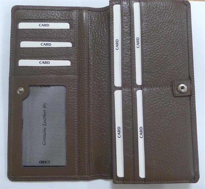 39059-Womens leather wallets - mink colored-OLDAGE GLOBAL - LOTEKS AS.