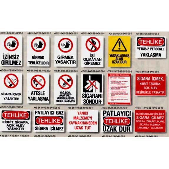 30427-3sized safety warning signs-Arsel Elektronik Guvenlik Sistemleri Sanayi Ve Ticaret Limited Sirketi