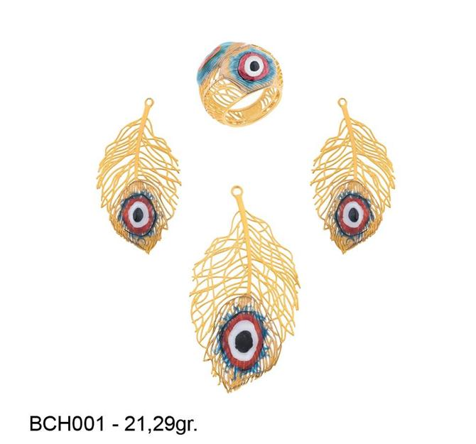 216269-18k gold miniset-Rinel Import-Export Co
