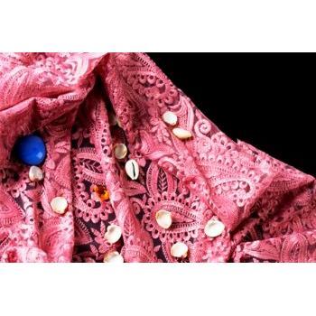 214642-Pink Tulle Lace-Karadeniz Brode Mefrusat Tekstil Ith.Ihr.Ltd Sti