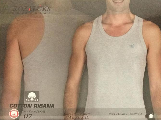 215420-Men's Cotton Tank Top-Kozaluks Tekstil San. ve Tic. Ltd. Sti.