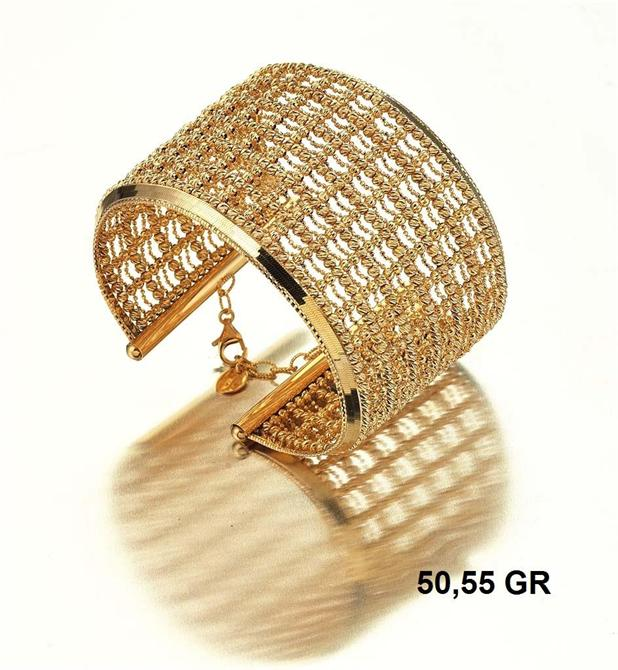 216281-18K Gold Bracelet-Rinel Import-Export Co