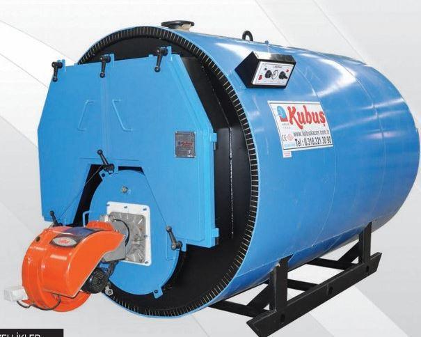 186612-3 Passed Scotch Type Fully Cylindrical Gas-Liquid Fuel Hot Water Gain-Kubus Isi Cihazlari