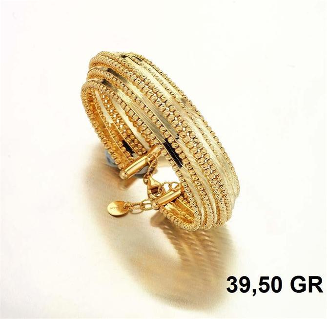 216285-18K Gold Bracelet-Rinel Import-Export Co
