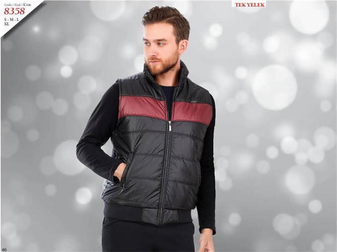 215318-Men's Tracksuit Vest-Kozaluks Tekstil San. ve Tic. Ltd. Sti.