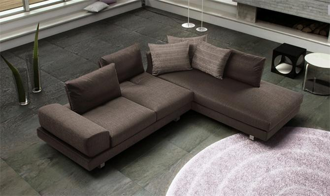 41065-Dark brown corner sofa-Spegna Mobilya
