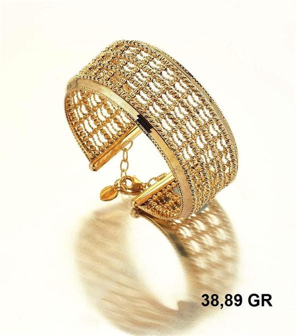216278-18K Gold Bracelet-Rinel Import-Export Co