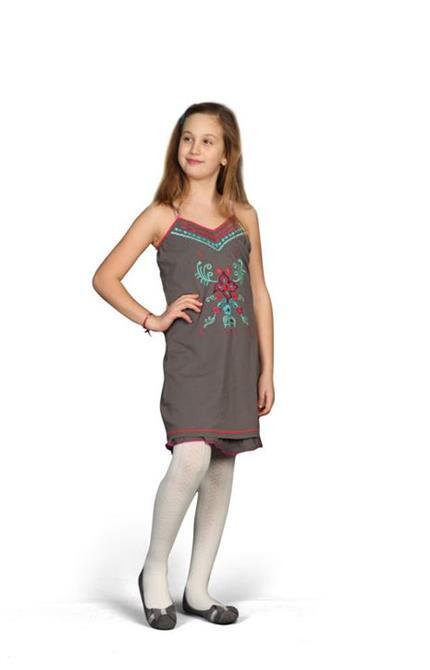 220613-Strap Detailed Girl Dress-Karteks Konfeksiyon Tekstil A.Ş.