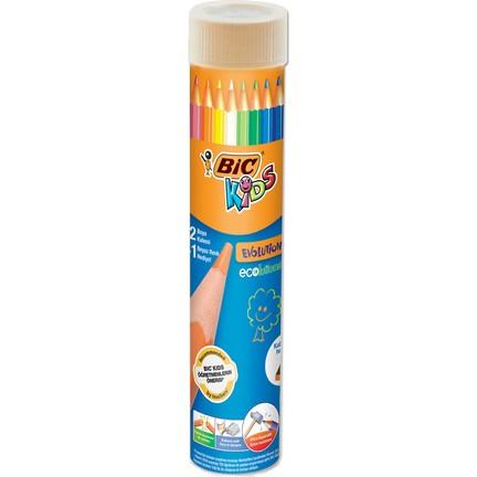 bic dry paint 24 color metal tube pencil sharpener