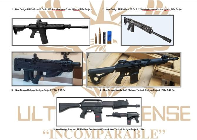 218098-12/20/36 Caliber Semi-Automatic Hybrid Tactical Shotgun Project-ULTRON Defense Industry and Trade Inc.