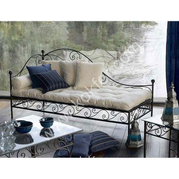 Kokf The Wrought Iron Sofa, Wrought Iron Living Room Furniture