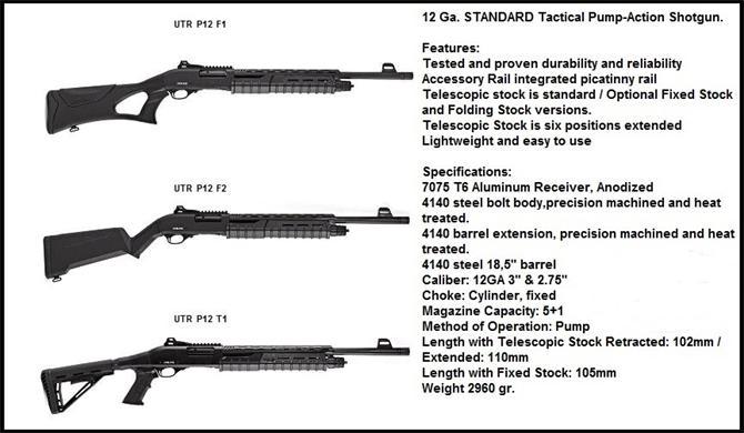 218100-Tactical Shotgun with 12 Caliber Pump-ULTRON Defense Industry and Trade Inc.