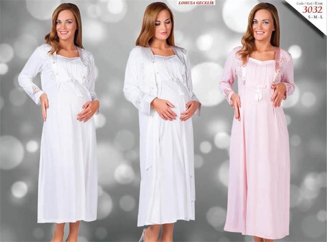 215281-Lohusa Maternity Nightgown-Kozaluks Tekstil San. ve Tic. Ltd. Sti.