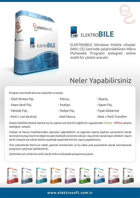 34290-Online Mobil Çözüm Aracı ElektroBile-Elektrosoft Bilişim Sistem Yazılım ve Otomasyon San. Tic. Ltd. Şti.