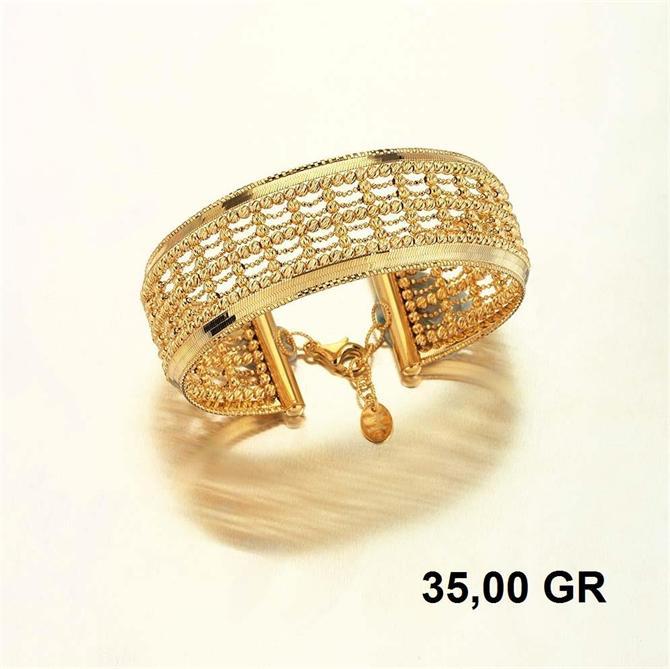 216283-18K Gold Bracelet-Rinel Import-Export Co