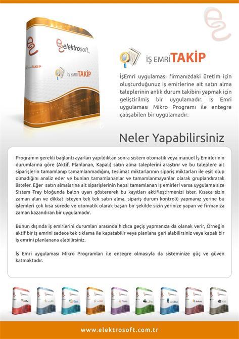 34294-Work Order Tracking Program-Elektrosoft Bilisim Sistem Yazilim ve Otomasyon San. Tic. Ltd. Sti.