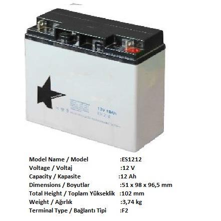 237925-AGM 12V 12ah-POWER ELEKTRONİK SAN. VE TİC. A.Ş.