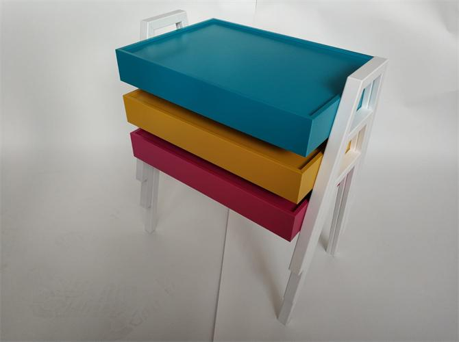 213380-Pvc Coating Mdf Zigon Coffee Table Set-Kocsan Ahsap Profil Mobilya ve Ins. San. Tic. Ltd. Sti.