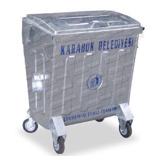 205853-400 lt. Hot Dipped Galvanized Waste Container-Yuksel Metal Makine Insaat Nakliyat San. ve Tic. Ltd. Sti.
